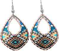 Native American - Turquoise Aztec Earrings