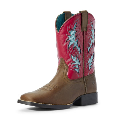 Ariat - Youth Cowboy Ventek Homestead Brown Hot Pink Boots at Buffalo Bills Western
