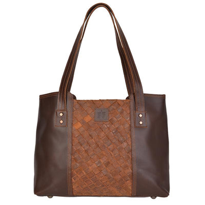 STS Ranch - Genuine Leather Weave Large Tote at Buffalo Bills Western