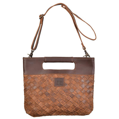 STS Ranch - Genuine Leather Weave Flatrock Clutch at Buffalo Bills Western