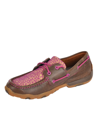 Twisted X - Womens Pink Web Mocs at Buffalo Bills Western