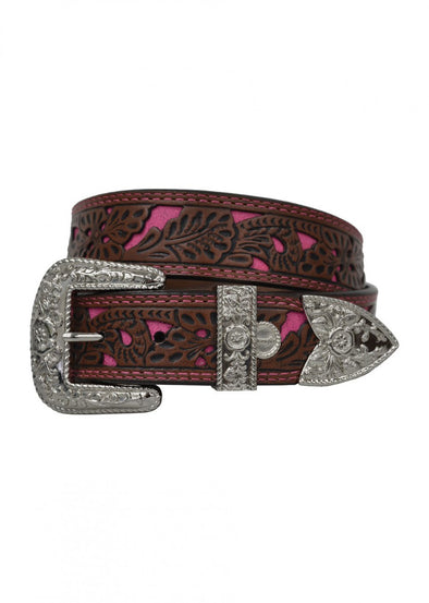 Wrangler - Kathleen Pink Inlay Belt - XCP2947BEL at Buffalo Bills Western