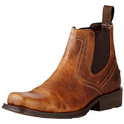 Ariat - Mens Midtown Rambler Barn Brown Boots at Buffalo Bills Western