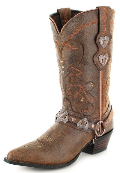 Durango - Womens Crush Heartbreaker Brown Boots at Buffalo Bills Western
