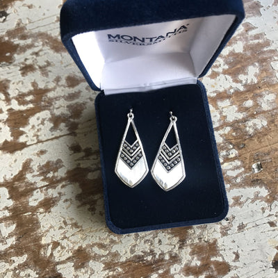 Montana Silversmith - Odds Are Chevron Feather Earrings at Buffalo Bills Western