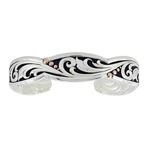 Montana Silversmiths - Leather Cut Rose Gold Trailing Vine Cuff Bracelet at Buffalo Bills Western