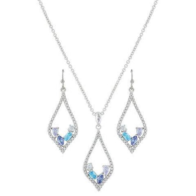 Montana Silversmith - Marquise Drop Blue Stone Jewellery Set at Buffalo Bills Western