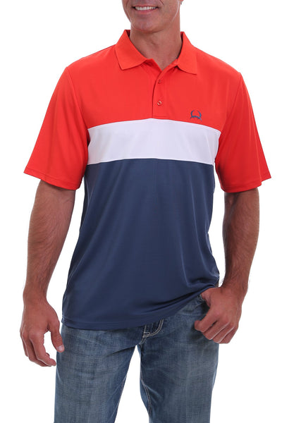 Cinch - Mens Red / White / Blue Polo Shirt at Buffalo Bills Western