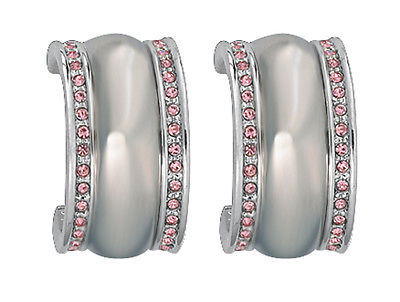 Montana Silversmith - Silver Dombed With Pink Stone Earrings at Buffalo Bills Western