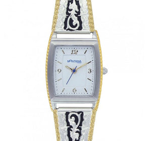 Montana Silversmith - Two Tone Barbed Filigree Expansion Womens Watch at Buffalo Bills Western