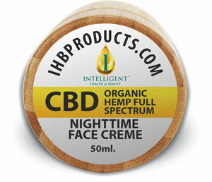 50ML Organic Hemp Night time Face Creme (400mg Full Spectrum Hemp CBD)