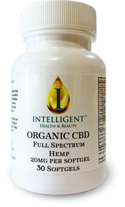 Organic CBD Softgel 30ct  (20mg Full Spectrum Hemp CBD per Gel)