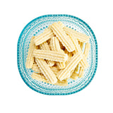 britts swedish spritz cookies on blue plate
