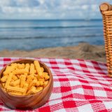 heath's north carolina cheese straws at a beach picnic