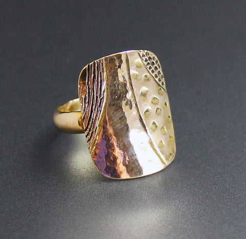 14K Shield Ring