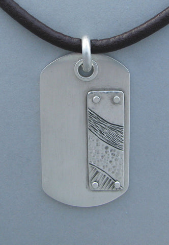 men's sterling dog tag necklace