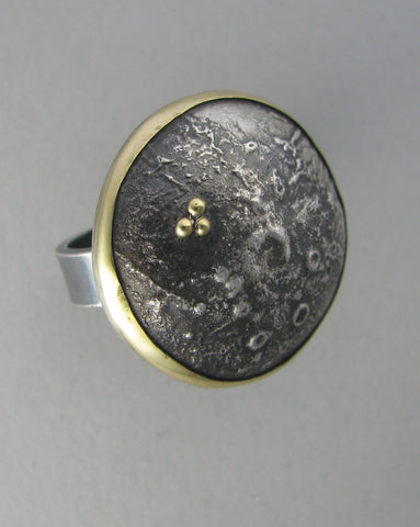 domed sterling cocktail ring