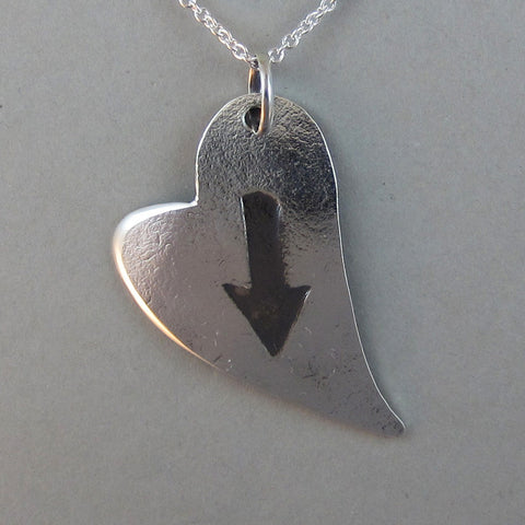 "Sterling ""Arrow Through My Heart"" Pendant"