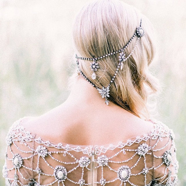 bridal headpieces bohemian bling