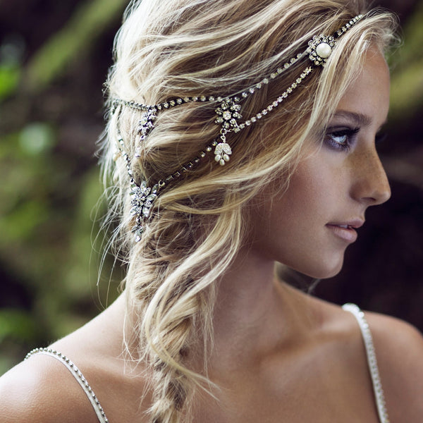 Bridal headpiece winter grande