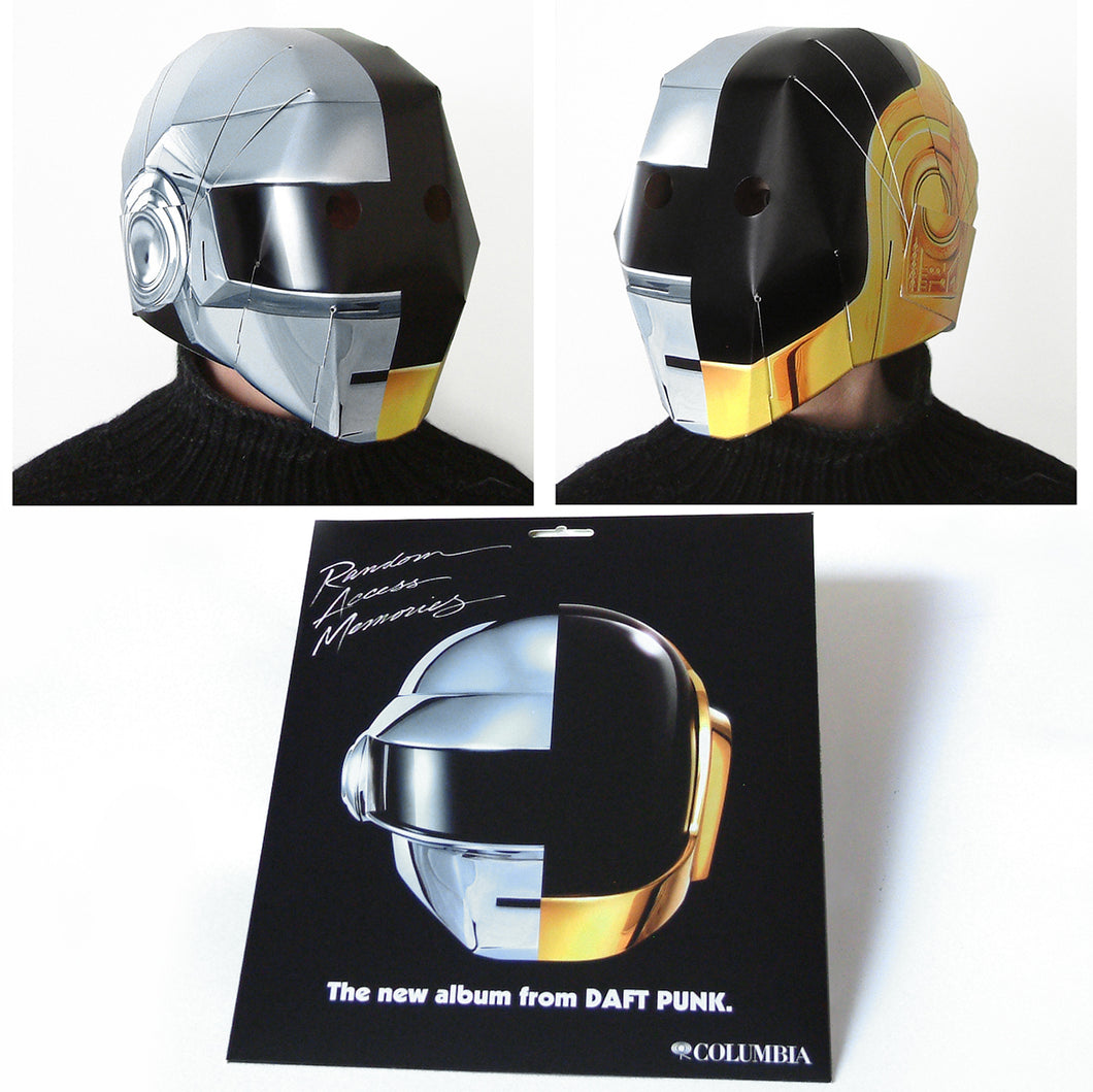 Daft Punk Split Helmet 'Random Access Memories' design