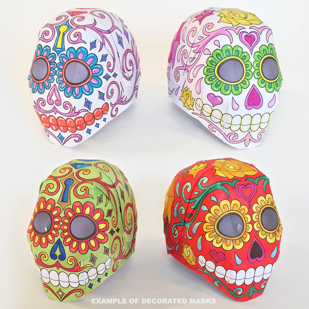 'DAY OF THE DEAD' Colour yourself mask twin-pack.
