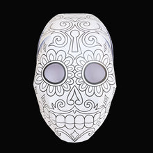 Load image into Gallery viewer, 'DAY OF THE DEAD' Colour yourself mask twin-pack.