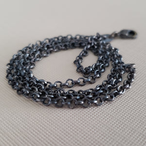 Black rolo chain necklace