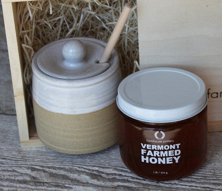 Stoneware Honey Pot Gift Set