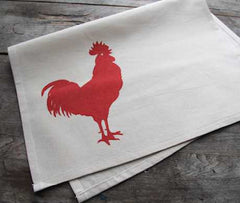 Red Rooster Tea Towel