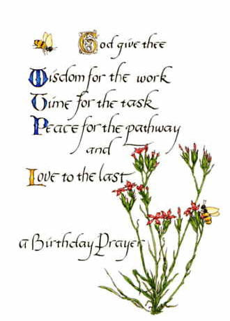 BD-406 A Birthday Prayer