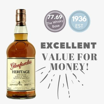 GLENFARCLAS HERITAGE ~ SPEYSIDE, SCOTLAND. An excellent value for money whiskey from Noble Whisky in Singapore. Buy online and get same day delivery.