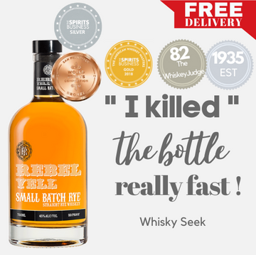 REBEL YELL SMALL BATCH RYE WHISKY ~ KENTUCKY, USA