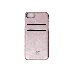 Rose Gold Saffiano Cardholder iPhone SE - 6/7/8