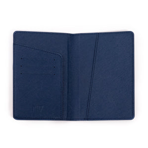 Blue Saffiano Passport Holder