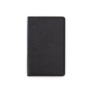 Black Saffiano Passport Holder