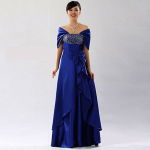21c8ef6e9d 2018 New Fashion Mother of the Bride Dresses Satin Mother Bride Dress Floor  length Bow Sequined Custom Made Plus Size LF10