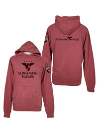 Red Screaming Eagles Hoodie with Drink Pocket