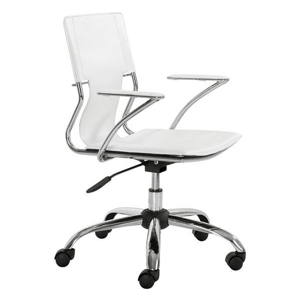 Enjoyable Trafico Office Chair White Caraccident5 Cool Chair Designs And Ideas Caraccident5Info