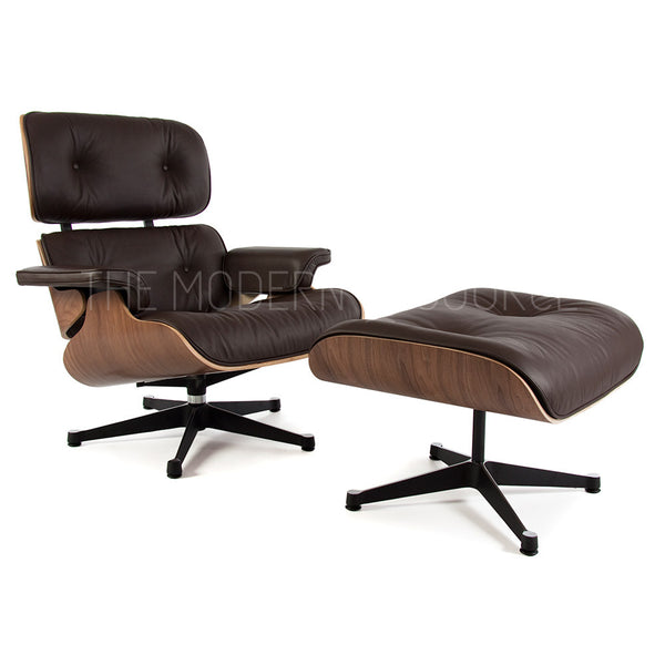 eames lounge chair ottoman reproduction the modern source. Black Bedroom Furniture Sets. Home Design Ideas