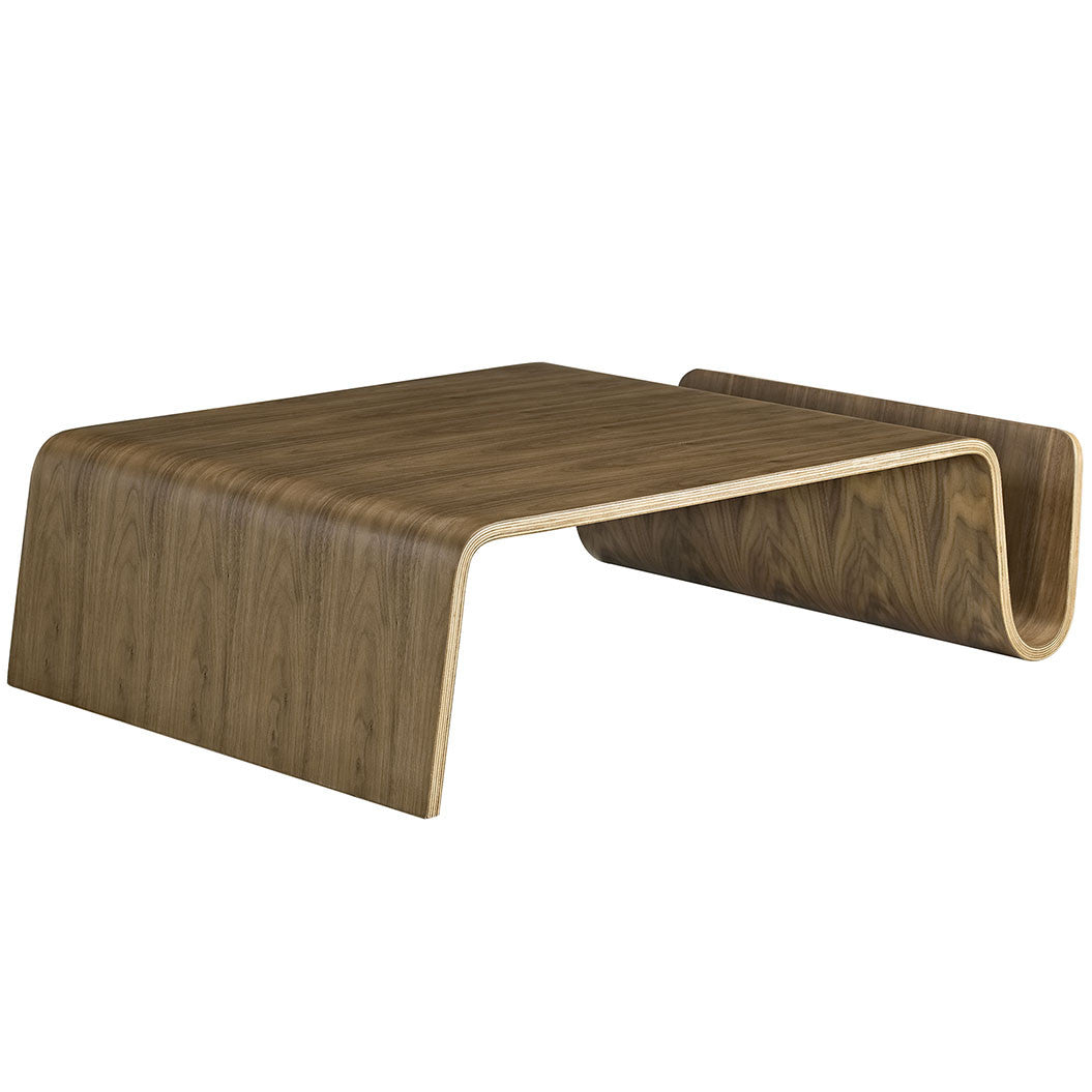 Polaris bent wood coffee table the modern source polaris bent wood coffee table geotapseo Gallery