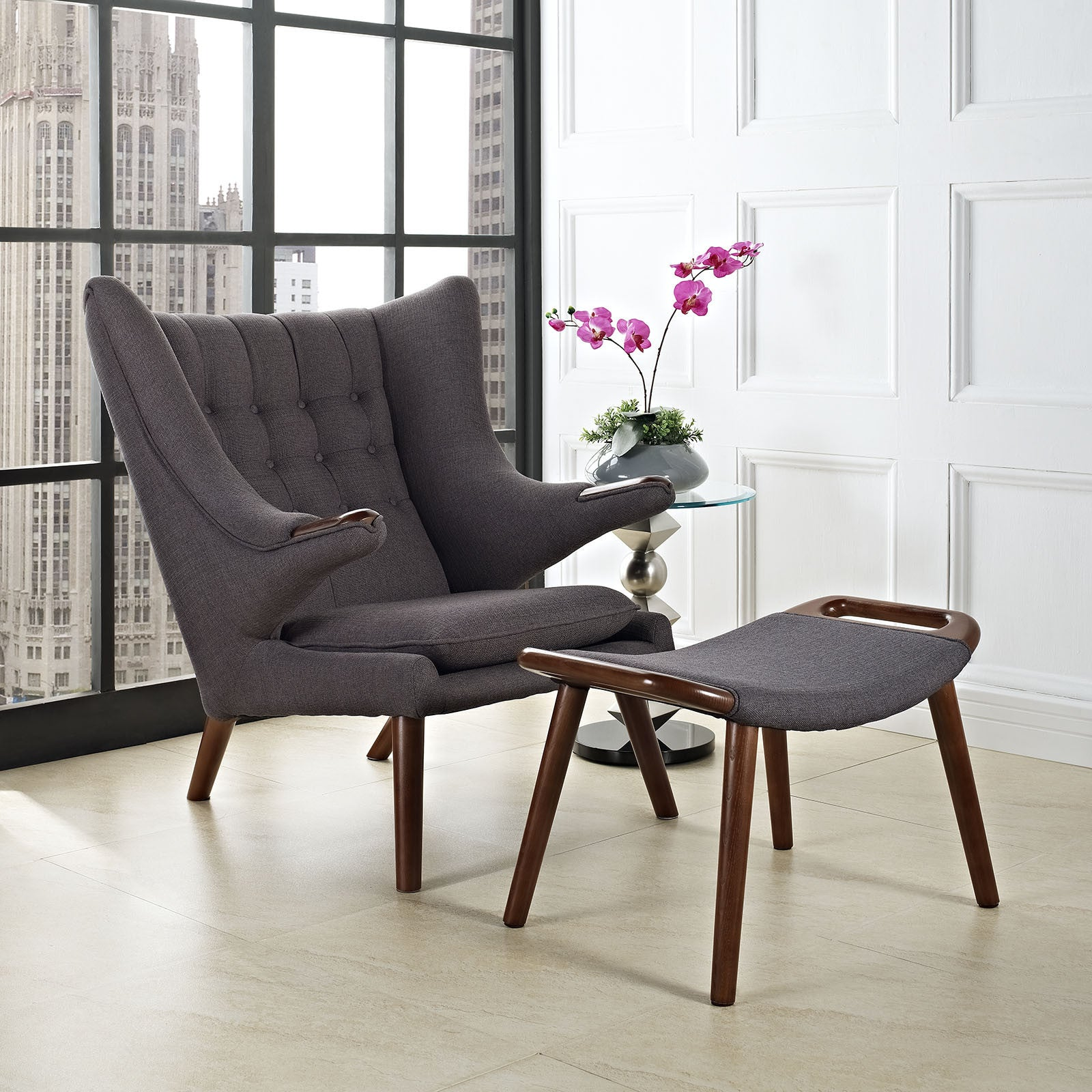 Wegner Papa Bear Chair & Ottoman Reproduction The Modern Source