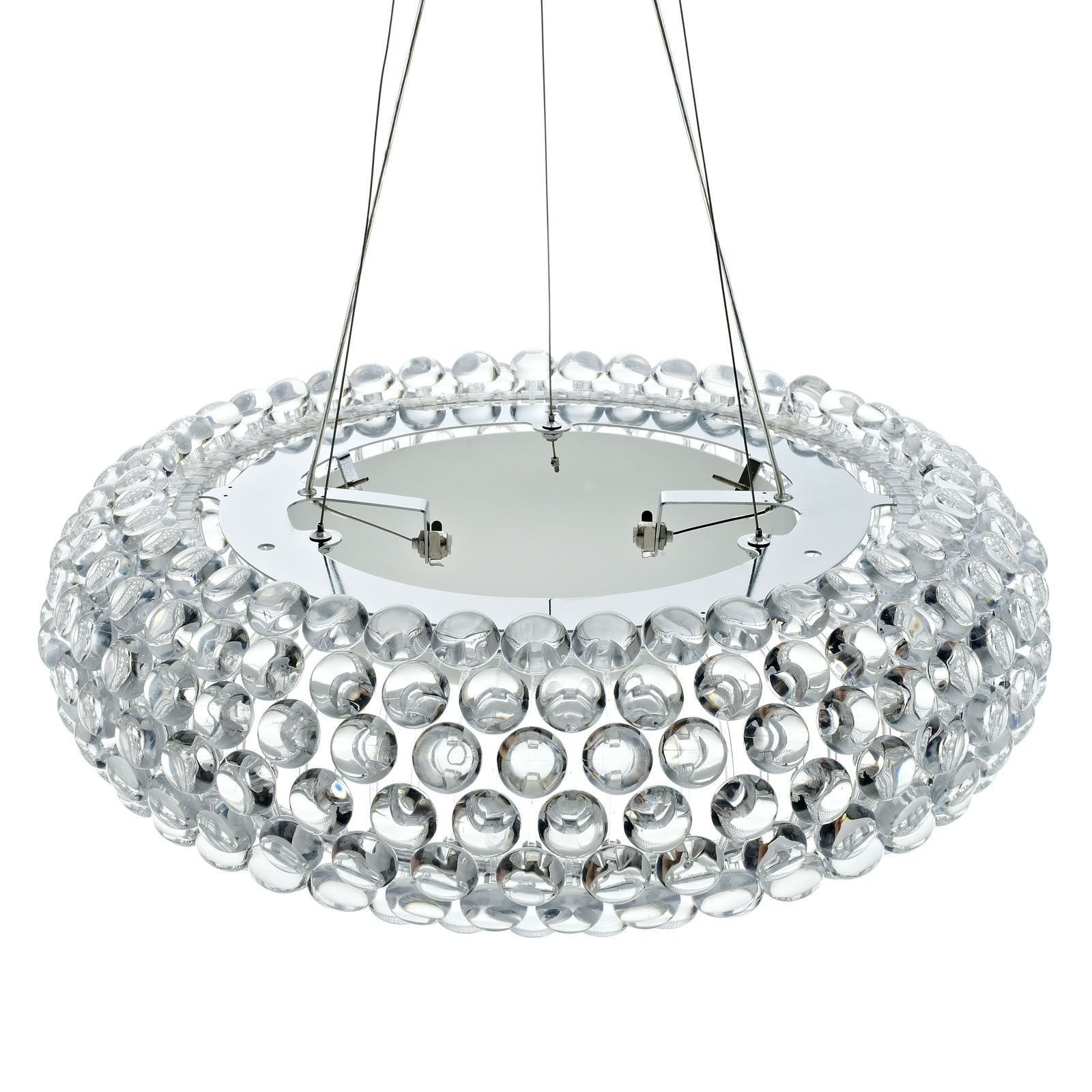 """Halo 25"""" Chandelier in Clear The Modern Source"""