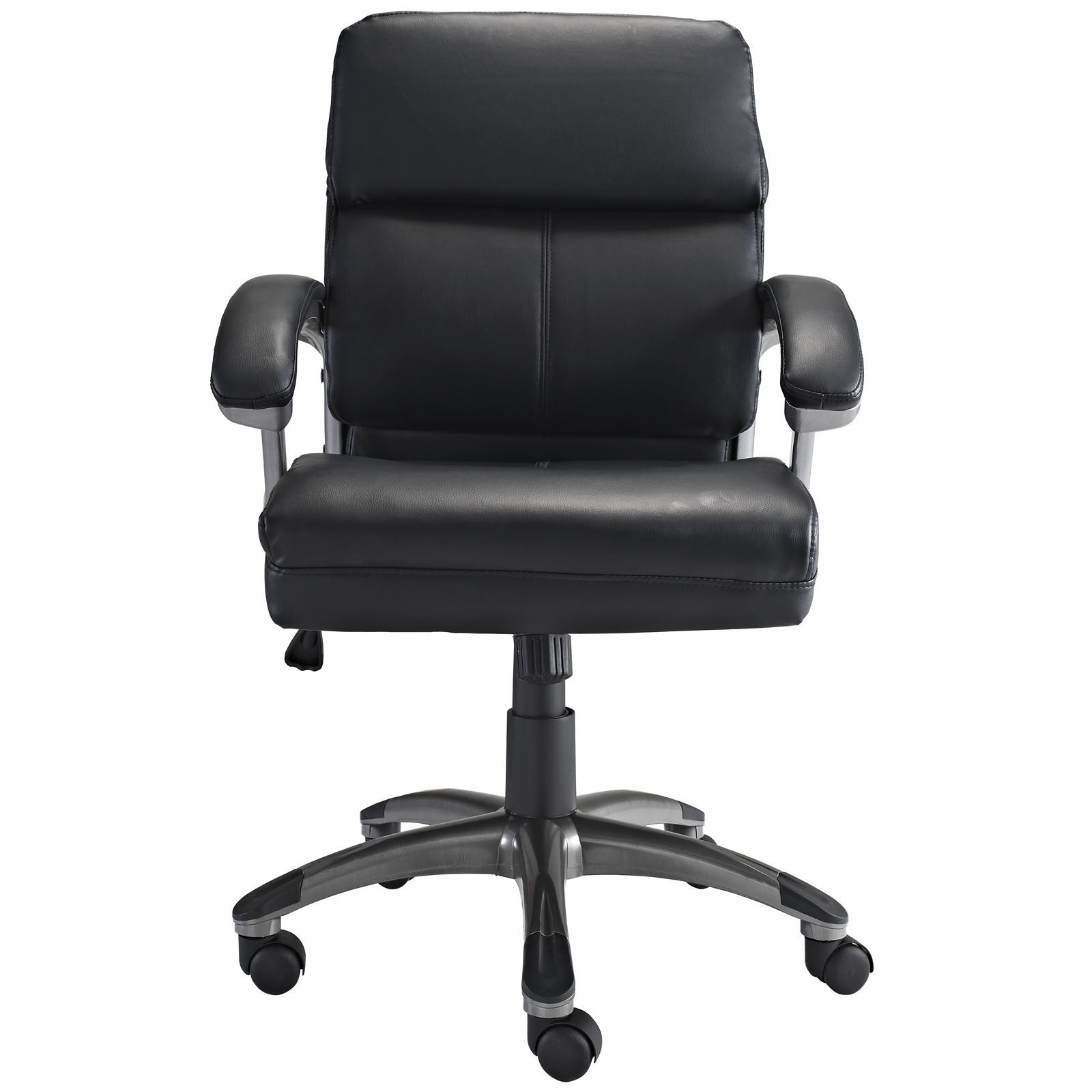 Stellar Mid Back Office Chair in Black - The Modern Source on brown office chair, ergonomic office chair, walmart reclining office chair, director office chair, low office chair, mid century office chair, white office chair, sciatica office chair, executive office chair, coccyx office chair, faux leather office chair, eames office chair, managers office chair, swivel office chair, mesh back office chair, pink office chair, kneeling office chair, task office chair, high-back office chair, red office chair,
