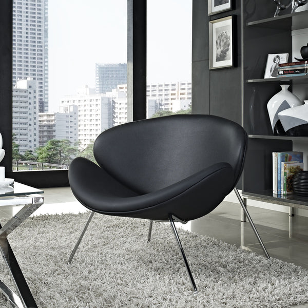 pierre paulin orange slice chair the modern source. Black Bedroom Furniture Sets. Home Design Ideas