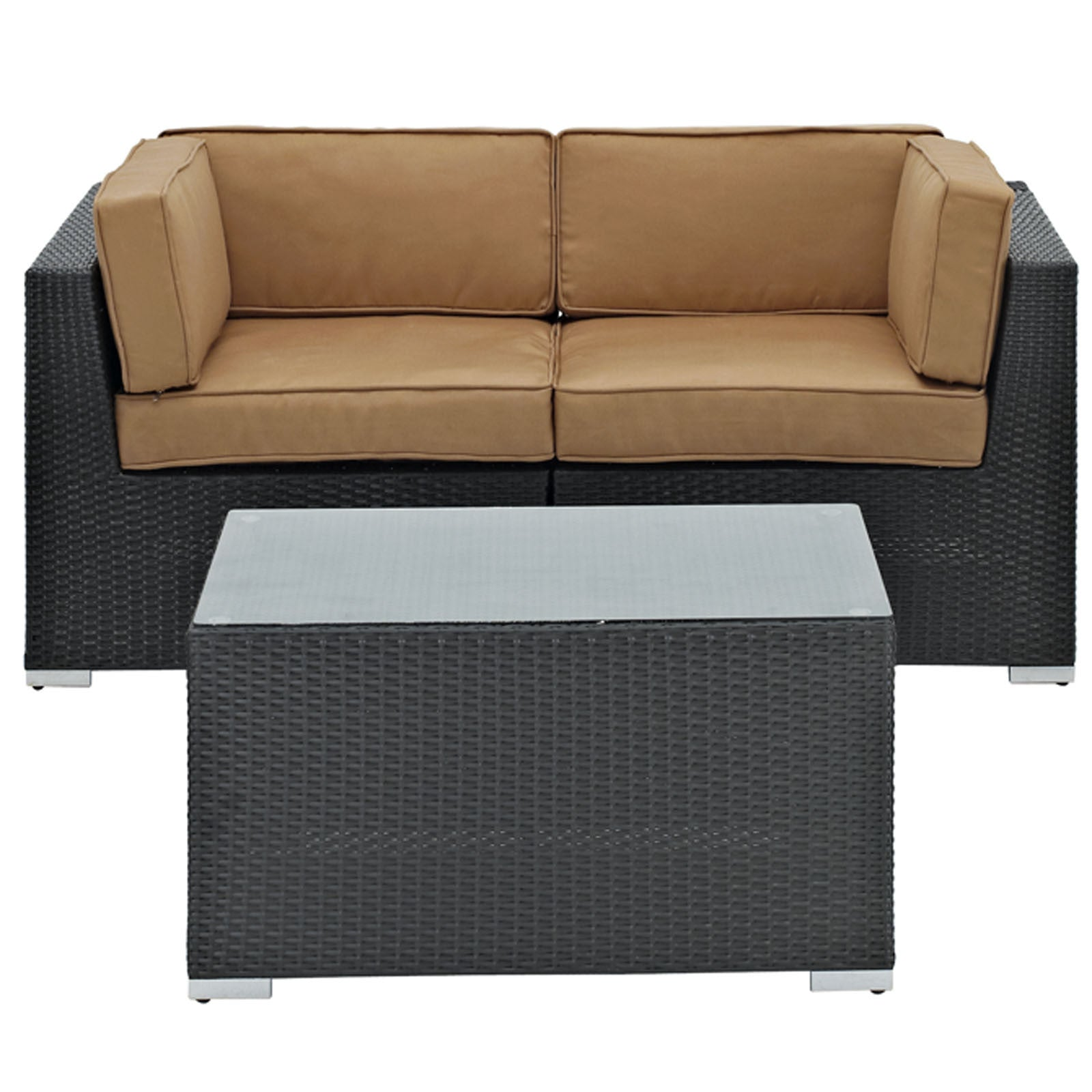 brown set patio source outdoor. Camfora 3 Piece Sectional Set - The Modern Source Brown Patio Outdoor G