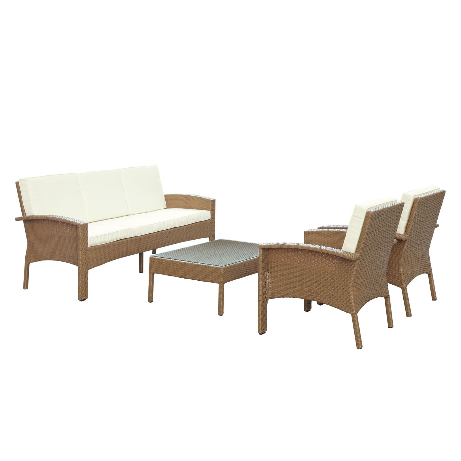 brown set patio source outdoor. Brook 4 Piece Sofa Set - The Modern Source Brown Patio Outdoor