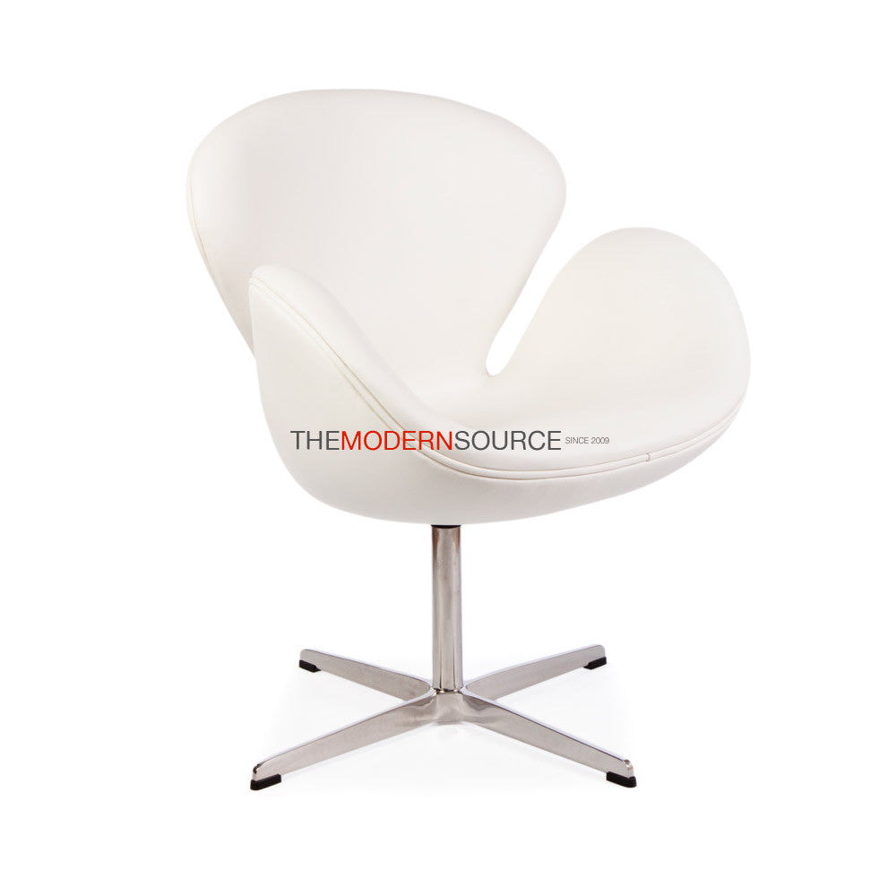 Merveilleux ... Swan Chair Reproduction   Leather   The Modern Source   7