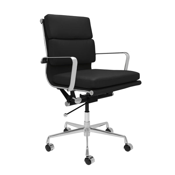 Eames Softpad Management Chair Reproduction   Leatherette