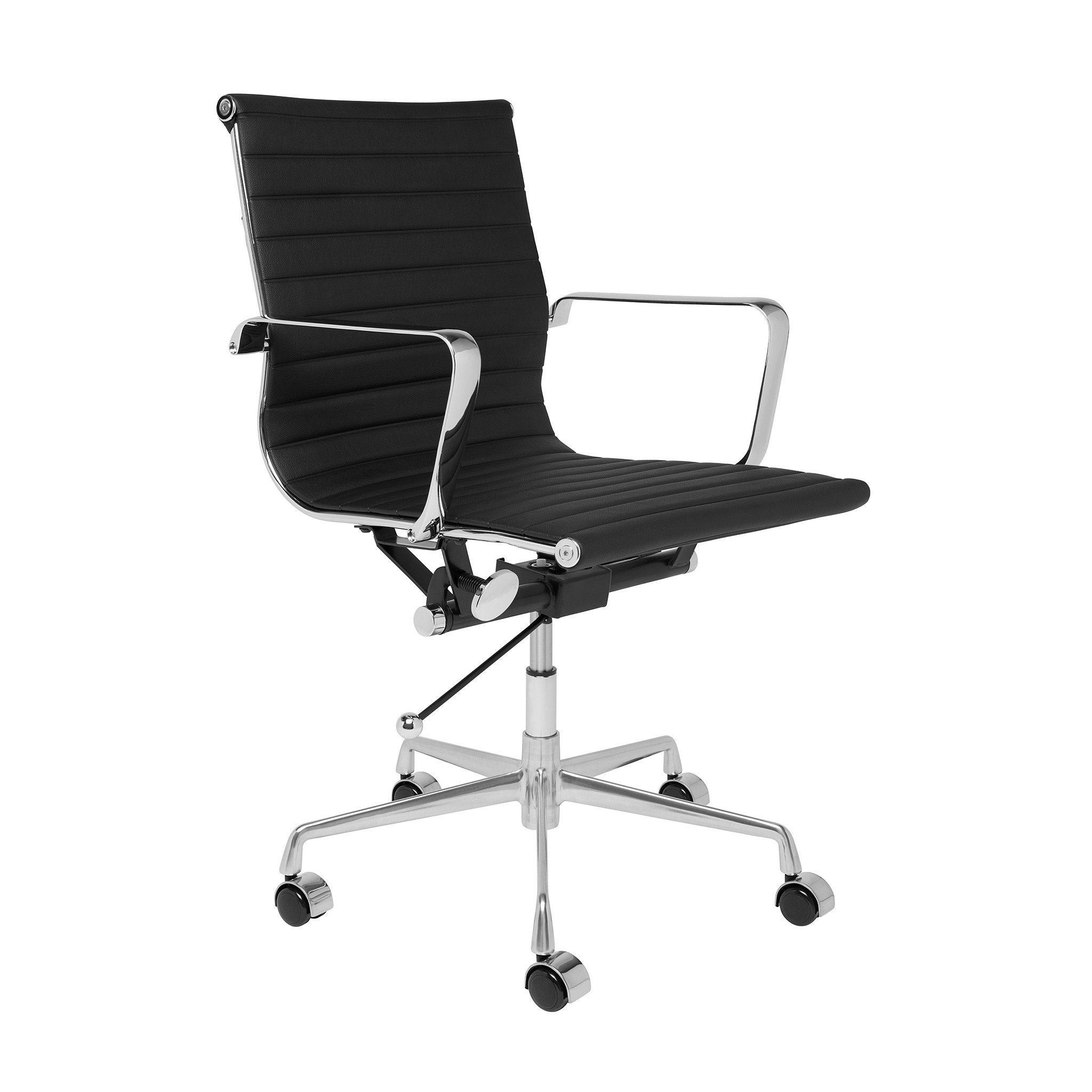 Eames office chair replica Black Eames Management Chair Midcentury Modern Furniture Vancouver Canada The Modern Source The Modern Source Eames Management Chair Midcentury Modern Furniture Vancouver